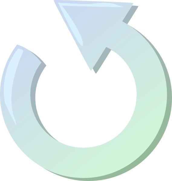 Round clip art free. Clipart arrow circle