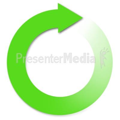 Clipart arrow circle. Green earth rotate diagonal