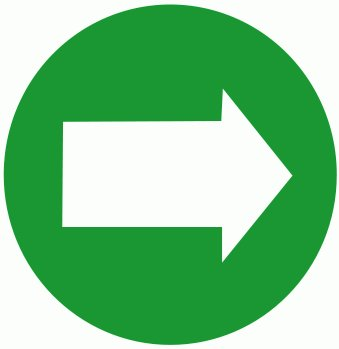 Free green right graphics. Clipart arrow circle
