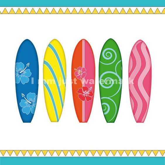 Clipart arrow made from surfboard image transparent Printable Surfboards - Clipart, each A4, for card design ... image transparent