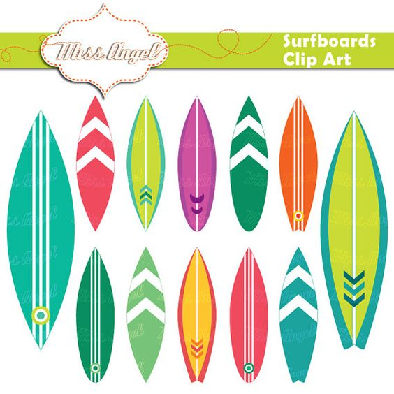 Clipart arrow made from surfboard svg free stock Surfboards CLIPART SET 12 Scrapbooking Digital by MissAngelClipArt ... svg free stock
