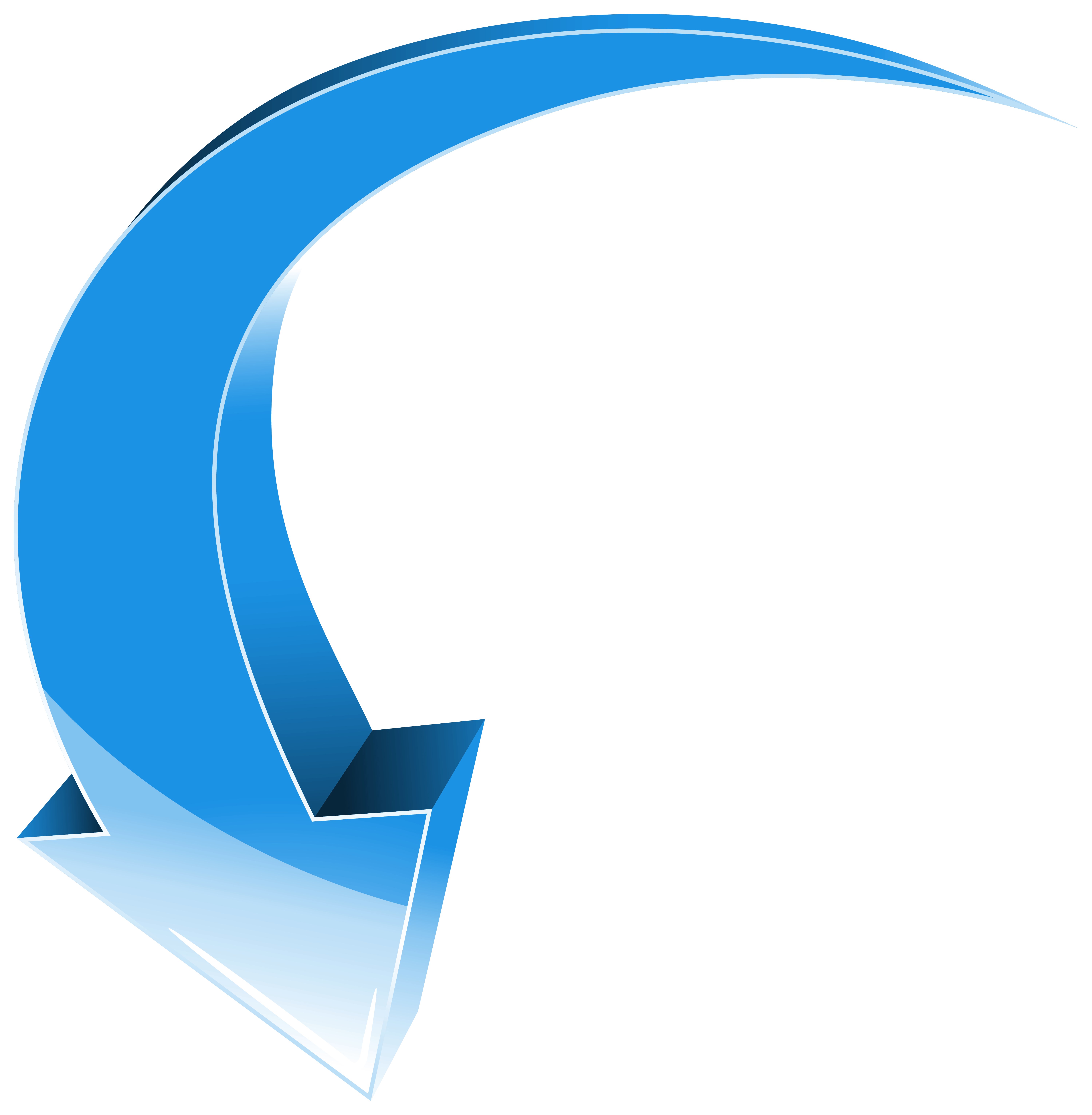 Arrow Blue Down Transparent PNG Clip Art Image vector library