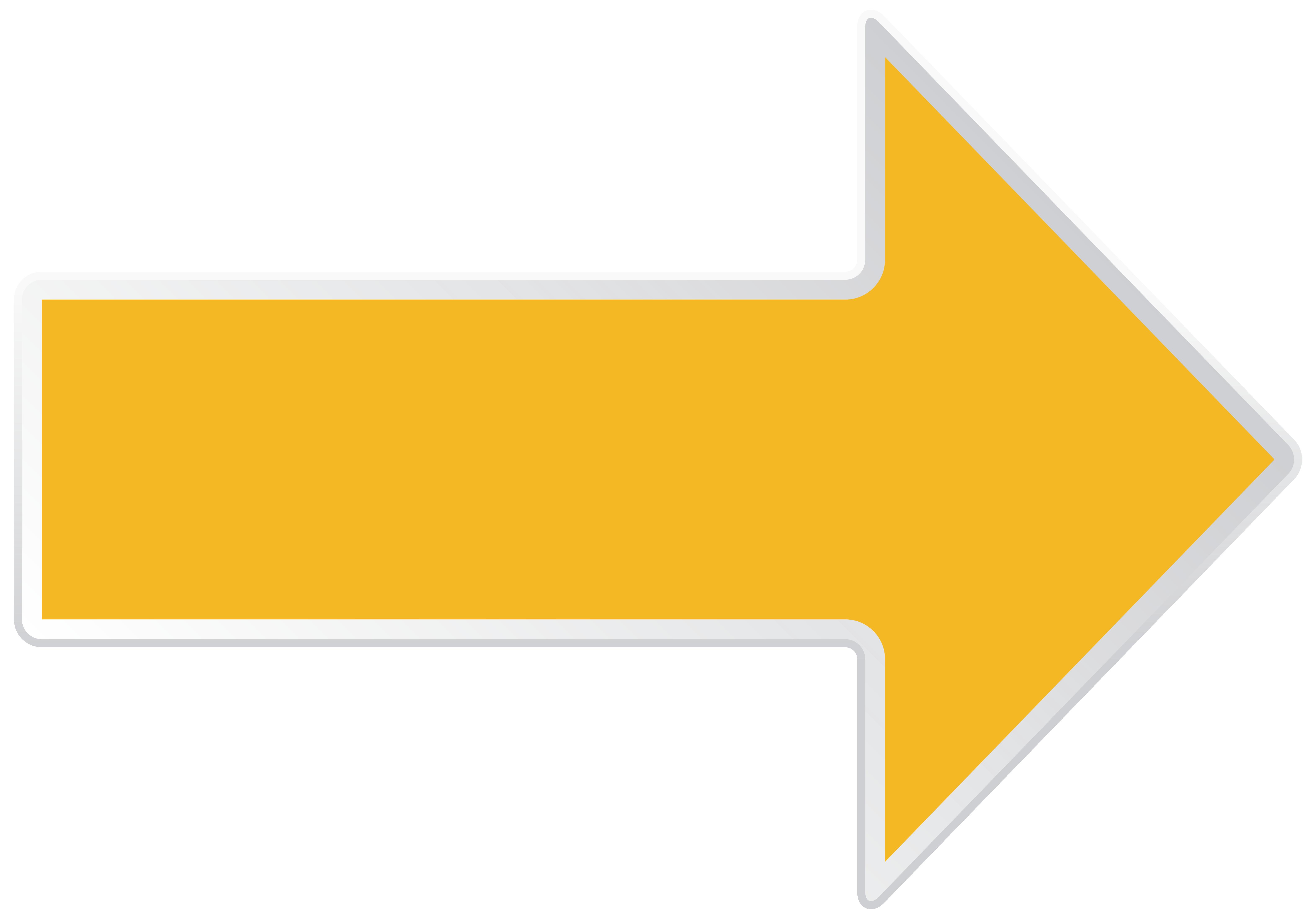 Clipart arrow png transparent graphic transparent stock Arrow Yellow Right Transparent PNG Clip Art Image graphic transparent stock
