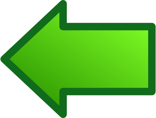Clipart arrow pointing left picture download Green arrow pointing left vector image | Public domain vectors picture download