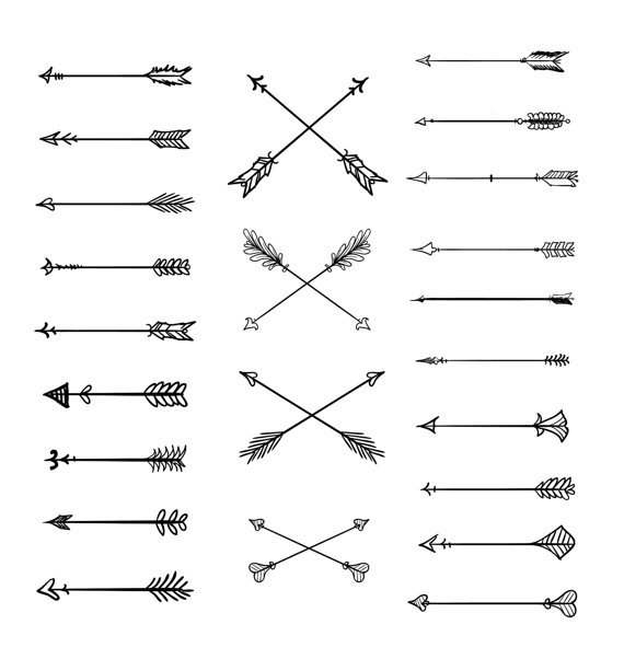 Clipart arrow tribal vector black and white stock Arrow clipart tribal - ClipartFest vector black and white stock