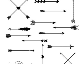 Clipart arrow tribal clipart black and white library Tribal arrow clipart – Etsy clipart black and white library