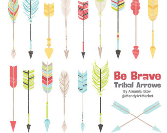 Clipart arrow tribal vector free download Tribal arrow feather clipart - ClipartFest vector free download