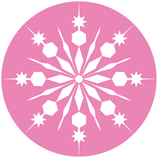Snowflake art clipart banner freeuse White Snowflake With Pink Background Clip Art at Clker.com - vector ... banner freeuse