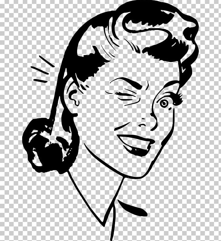 Wink clipart black and white graphic Wink Woman Smiley PNG, Clipart, Arm, Art, Artwork, Black And White ... graphic