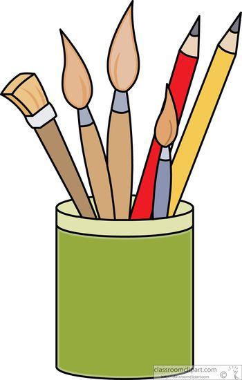 Clipart artist supplies clip library Art Supplies : Art Supplies Pencils Paint Brushes Clipart - Free Clipart clip library