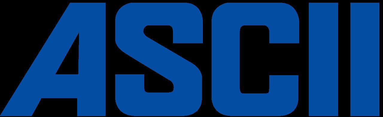 Clipart ascii picture black and white File:SVG ASCII logo.svg - Wikimedia Commons picture black and white