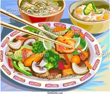 Clipart asian food clip black and white stock Chinese Food Clip Art | food&drink illustration | Chinese food ... clip black and white stock