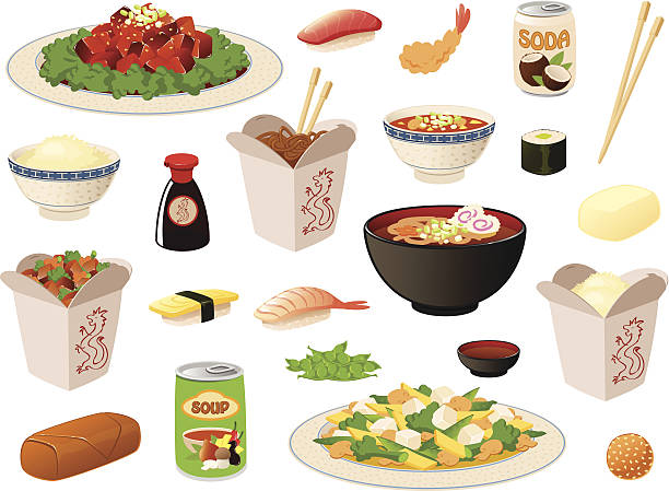 Clipart asian food banner library library Top Chinese Food Clip Art Vector Graphics And Illustrations IStock ... banner library library