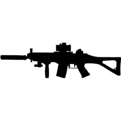 Clipart assault rifle clipart black and white download Assault Rifle Clip Art | Clipart Panda - Free Clipart Images clipart black and white download