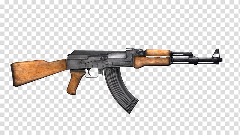 Clipart assault rifle banner download AK-47 Assault rifle Firearm Weapon, AK-47 transparent background PNG ... banner download