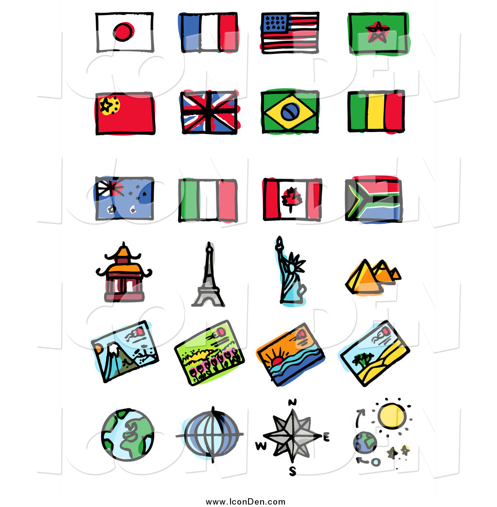 Tourist attraction clipart image library Clip Art of Flags and Tourist Attractions by NL shop - #1055 image library
