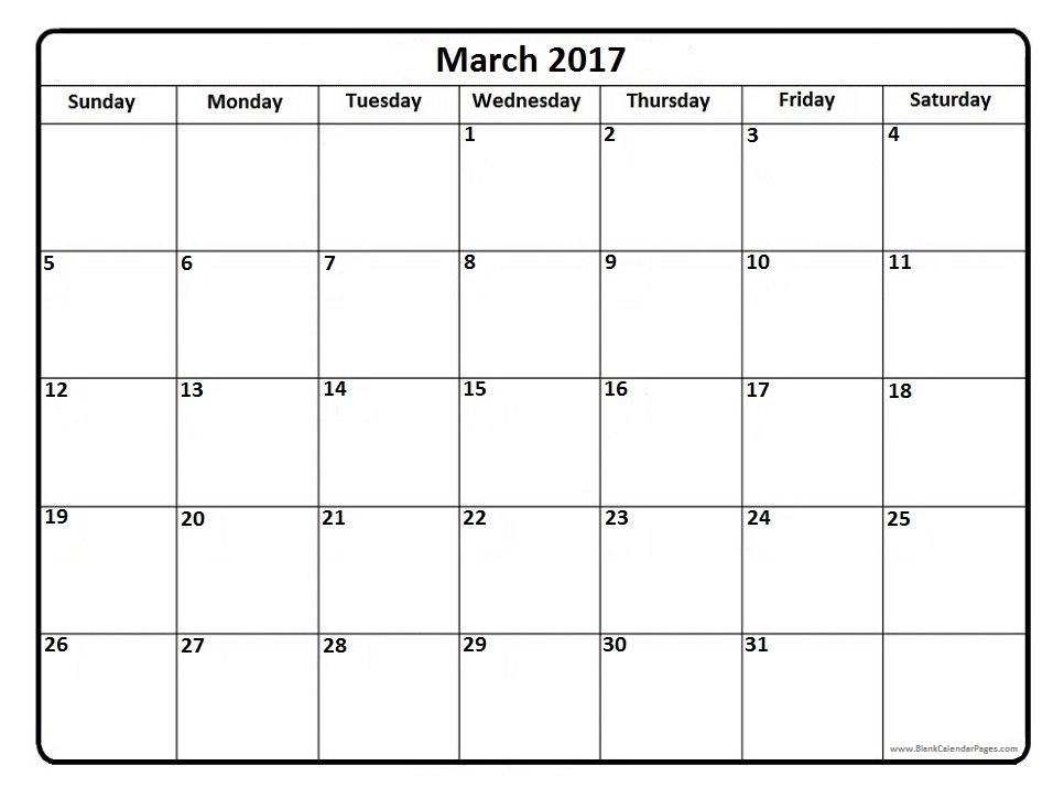 Clipart august 2016 calendar clip library March 2017 Calendar Clipart clip library