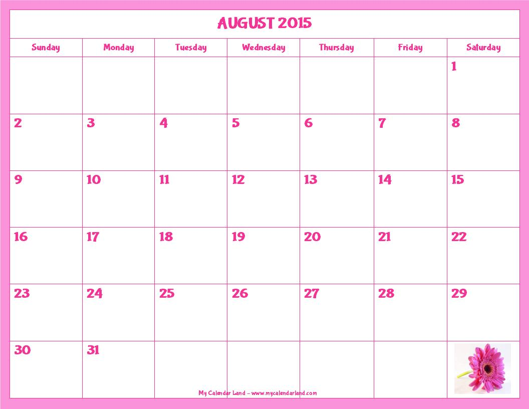 Clipart august 2016 calendar graphic royalty free download August 2016 Calendar graphic royalty free download