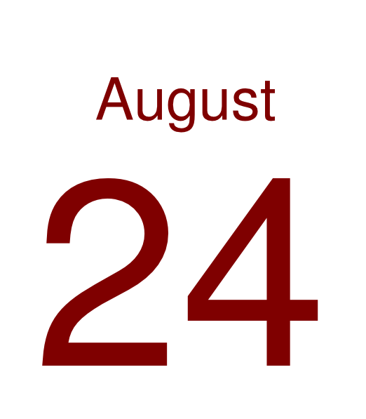 Clipart for august calendar image free library August 24 Clip Art at Clker.com - vector clip art online, royalty ... image free library
