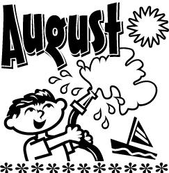 Clipart august calendar black and white stock Free August Clip Art Pictures - Clipartix black and white stock