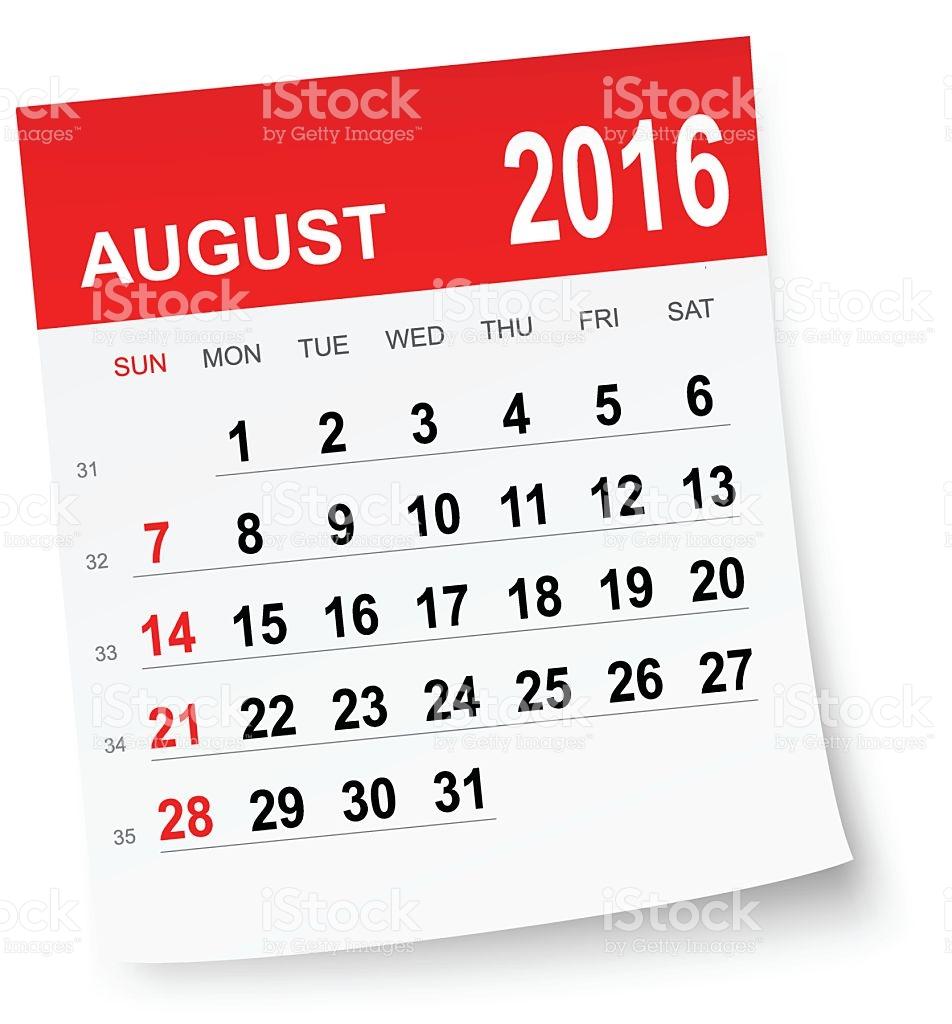 Clipart august calendar clip art royalty free stock Clipart august 2016 calendar - ClipartFest clip art royalty free stock