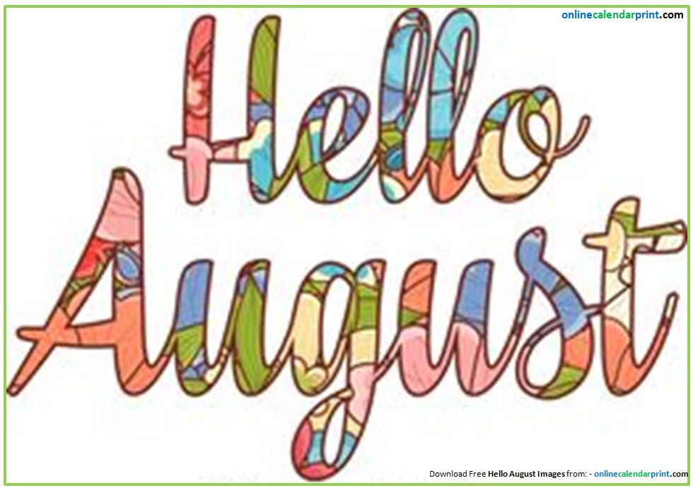 Welcome august clipart graphic freeuse library Hello August Clipart | Clipart: Summer | August clipart, Hello ... graphic freeuse library