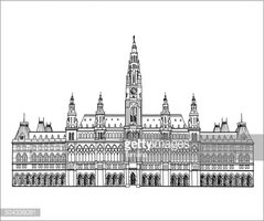 Clipart austrian town picture royalty free Austrian Town Hall Building IN Vienna, Austria stock vectors ... picture royalty free