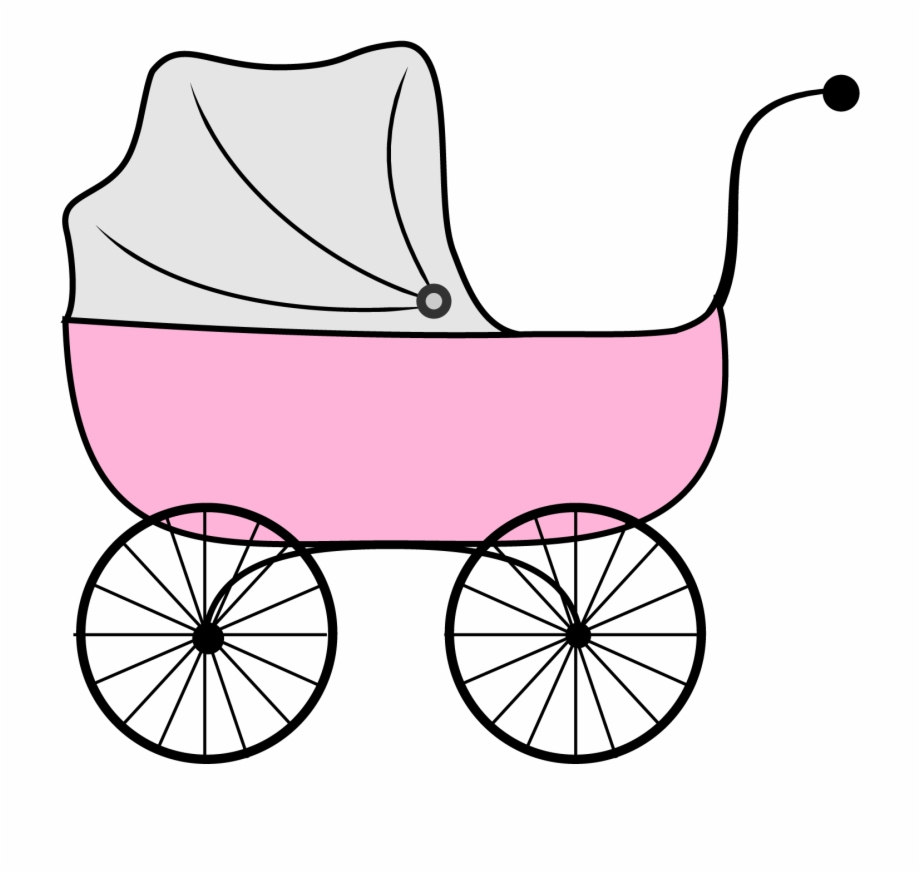 Clipart babies in carriages image free Baby Boy Shower Engaging Baby Shower Clip Art Black - Baby Carriage ... image free