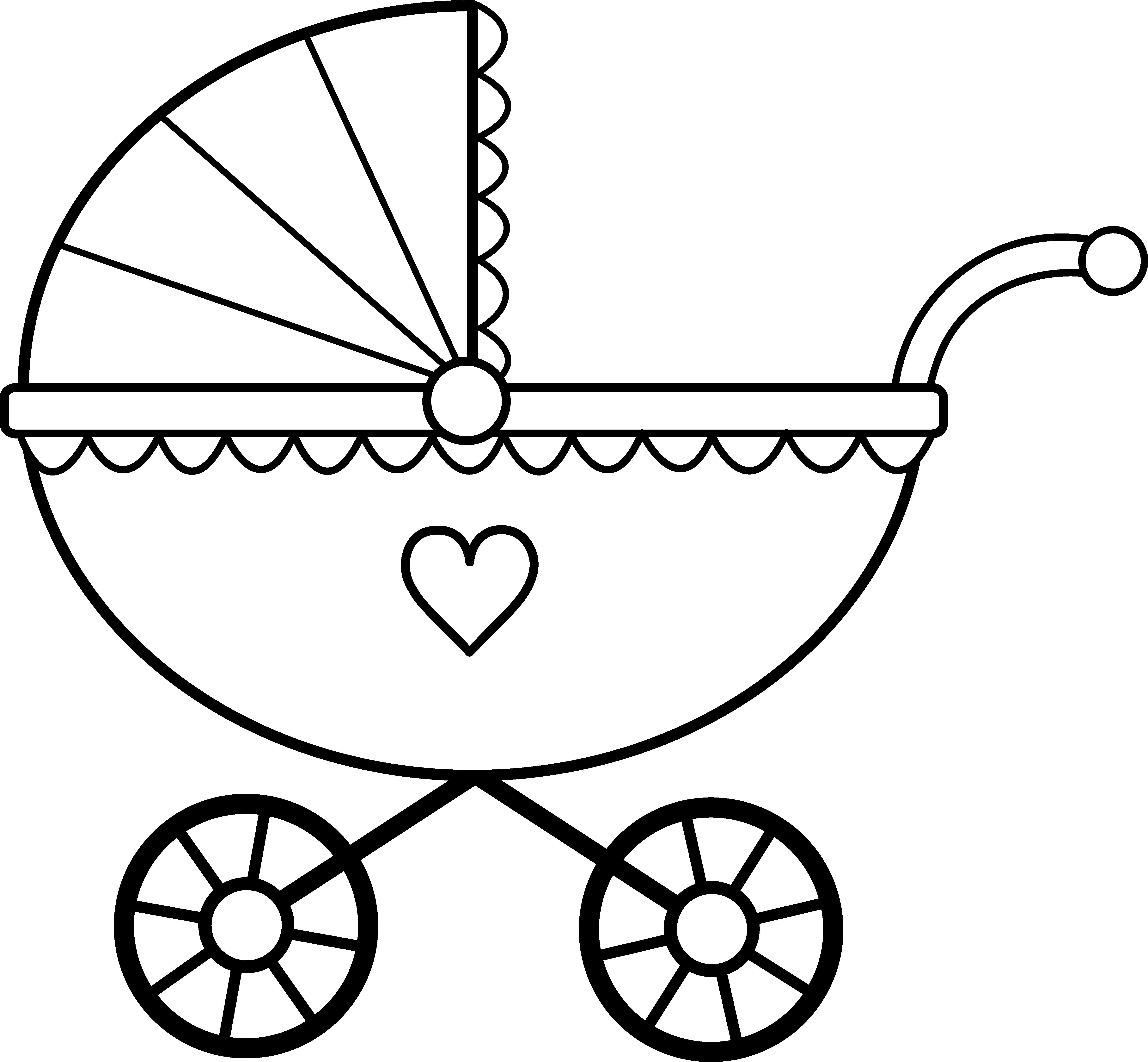 Clipart babies in carriages clip black and white library Free Baby Carriage Clipart, Download Free Clip Art, Free Clip Art on ... clip black and white library