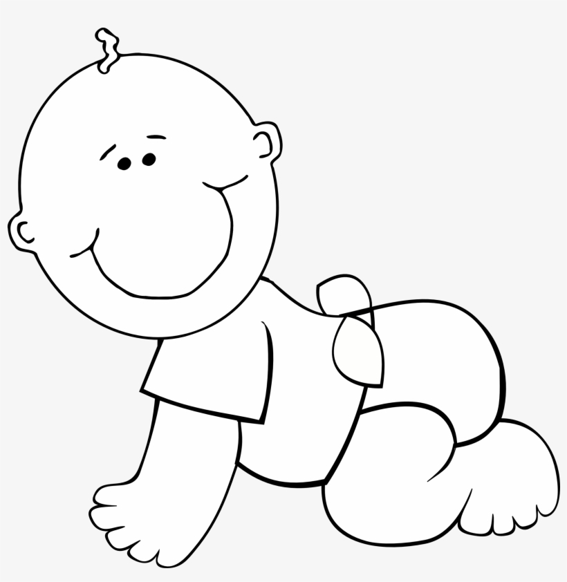Clipart baby black and white png transparent stock Baby Boy Clipart Black And White - Baby Clipart Black And White ... png transparent stock