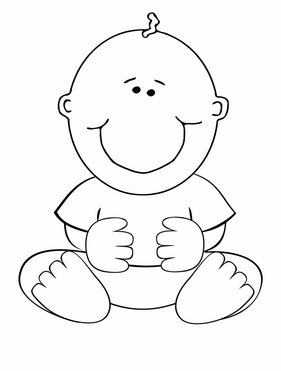 Clipart baby black and white banner black and white stock Baby Black And White Clipart - Baby Boy Clip Art, Transparent Png ... banner black and white stock