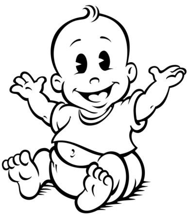 Clipart baby black and white clipart library library 24+ Baby Clipart Black And White | ClipartLook clipart library library