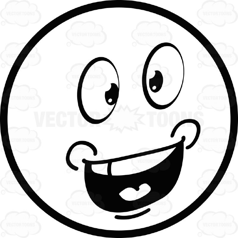 Clipart baby black and white talking svg black and white stock Talking Large Eyed Black and White Smiley Face Emoticon With Chubby ... svg black and white stock