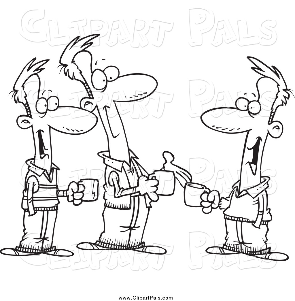 Clipart baby black and white talking transparent library A Black And White Cartoon Of Two Kids Talking Baby Talk While - 272 ... transparent library