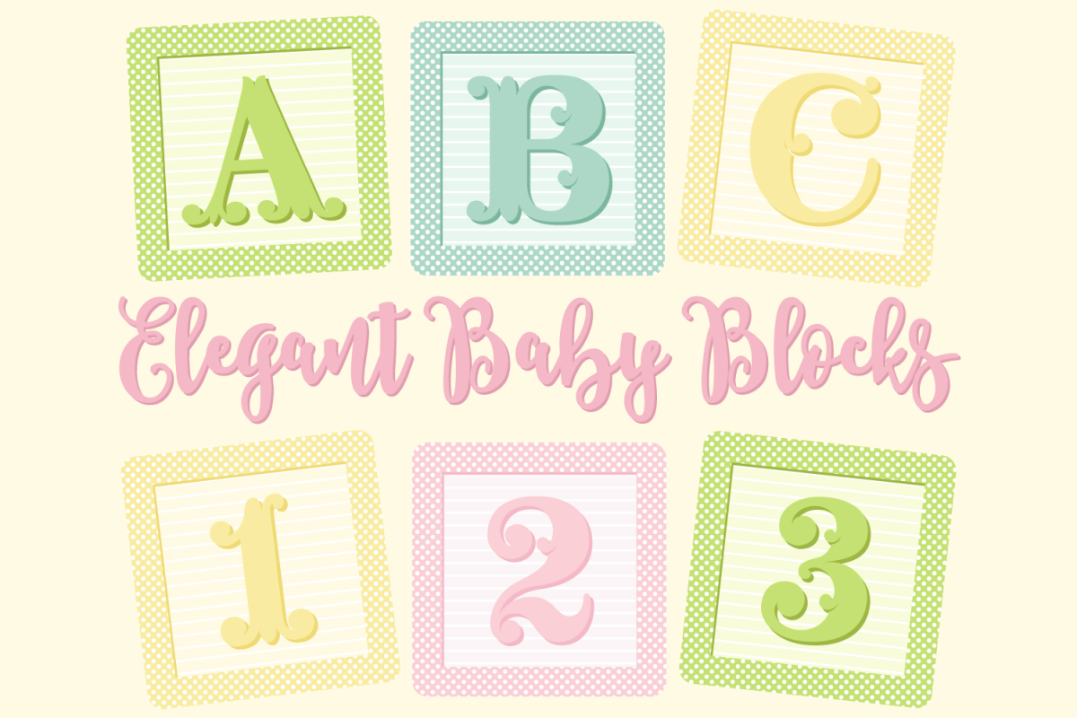 Clipart baby blocks image library download Elegant Baby Blocks Alphabet Clip Art image library download