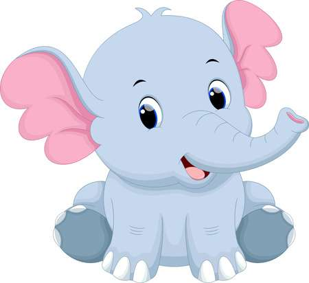 Clipart baby elephant images svg black and white stock Cute baby elephant clipart 1 » Clipart Station svg black and white stock
