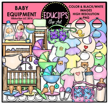 Clipart baby equipment image freeuse download Baby Equipment Clip Art Bundle {Educlips Clipart} image freeuse download