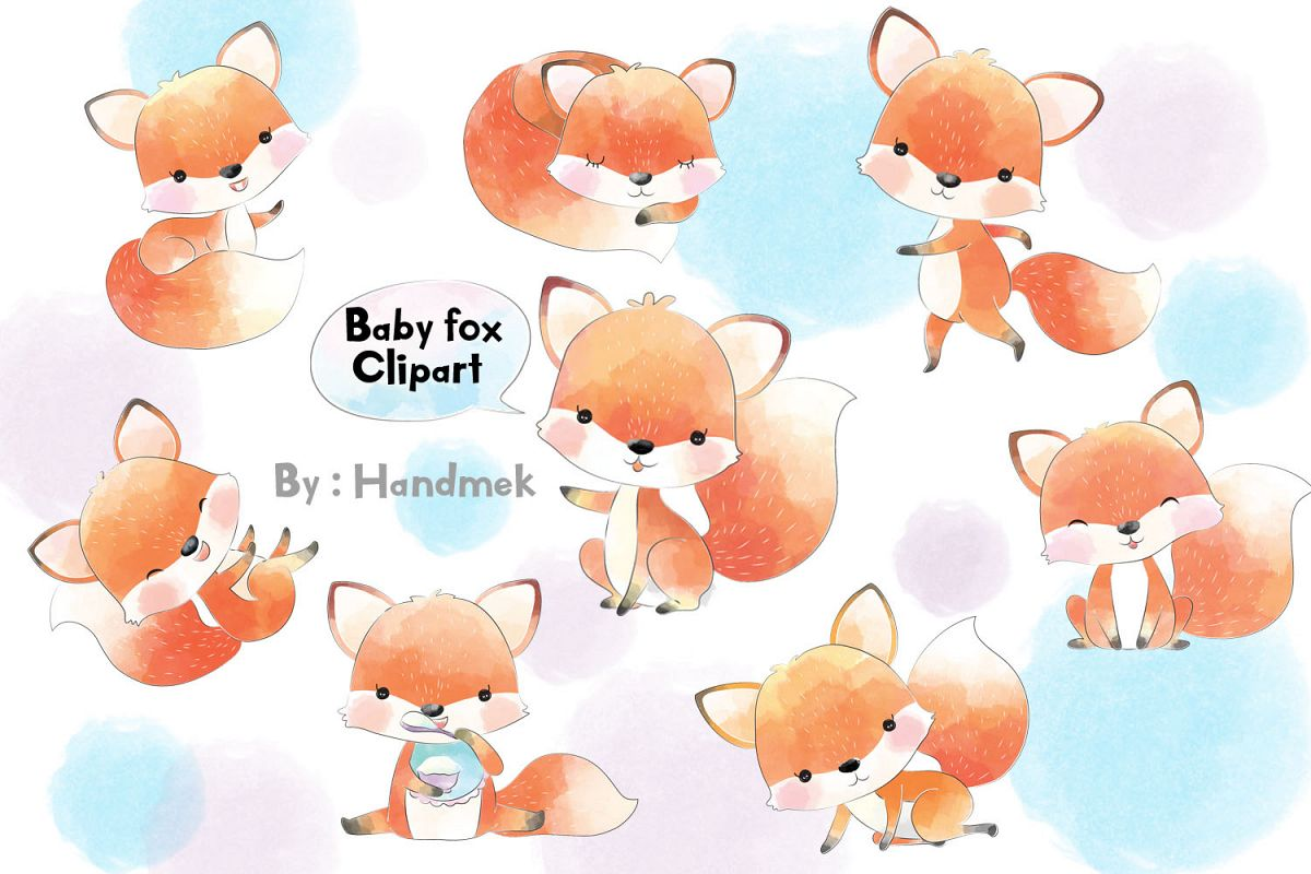 Clipart baby fox black and white stock Baby fox clipart. black and white stock