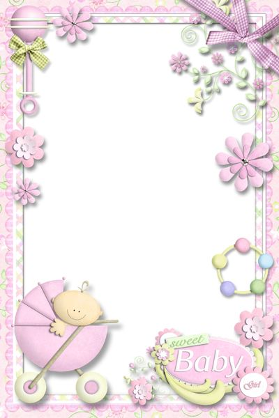 Clipart baby girl borders svg library Border clipart new baby girl - ClipartFest svg library