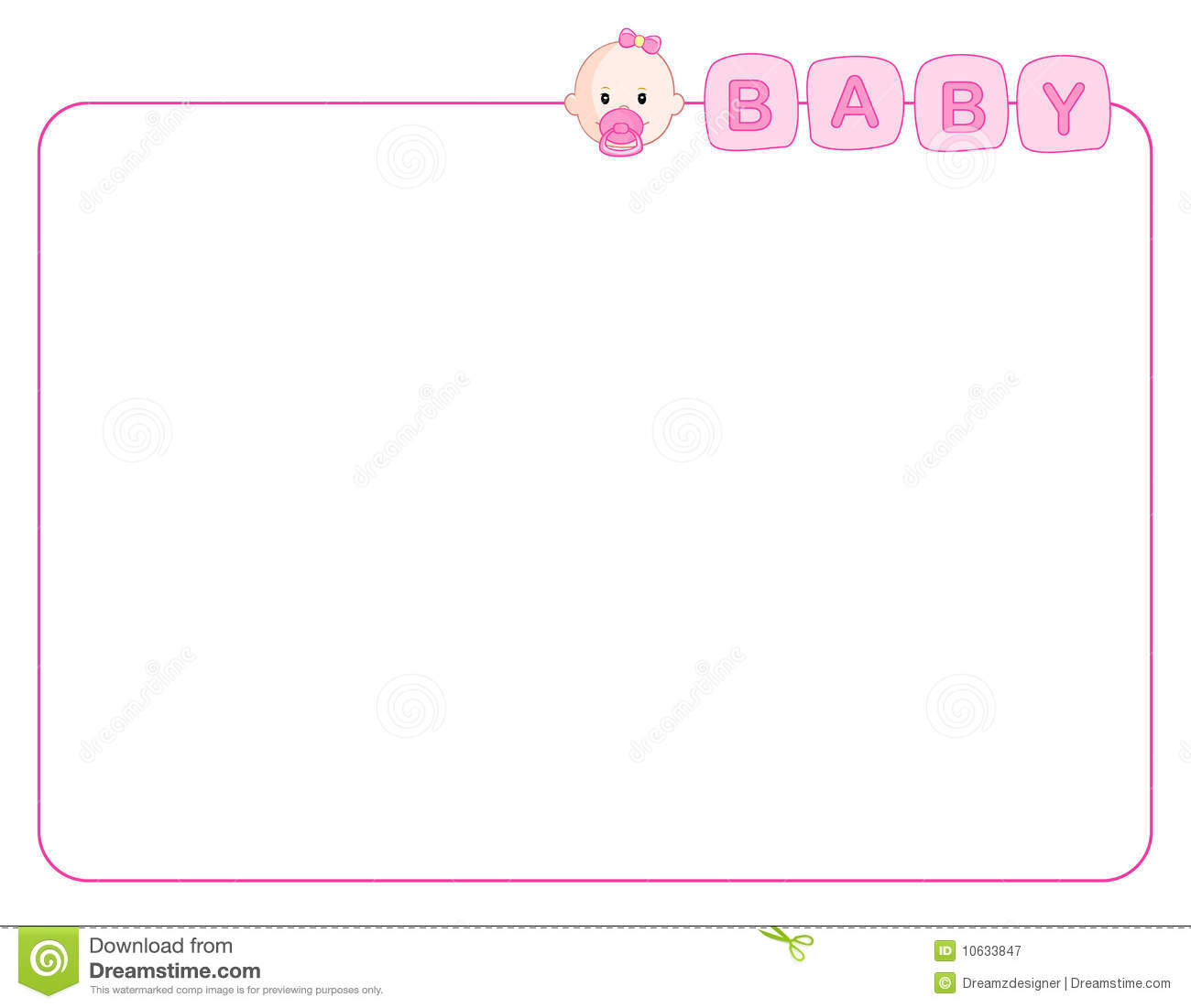 Clipart baby girl borders png transparent library Cute Girl Borders – Free wallpaper download png transparent library