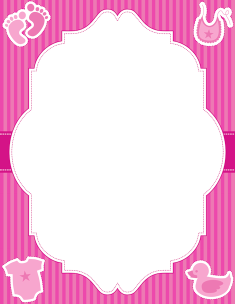 Clipart baby girl borders vector black and white library Printable baby girl border. Free GIF, JPG, PDF, and PNG downloads ... vector black and white library