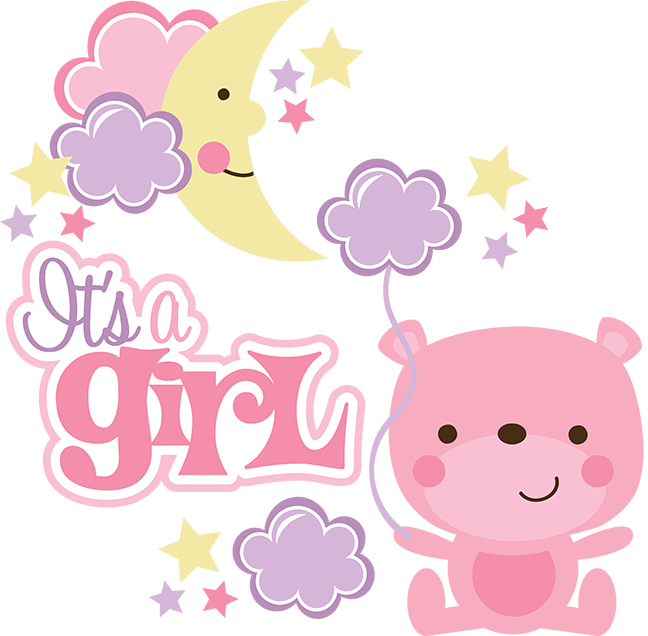 Clipart baby girl borders graphic freeuse stock Scrappin Intervention: It's a girl! - baby card graphic freeuse stock