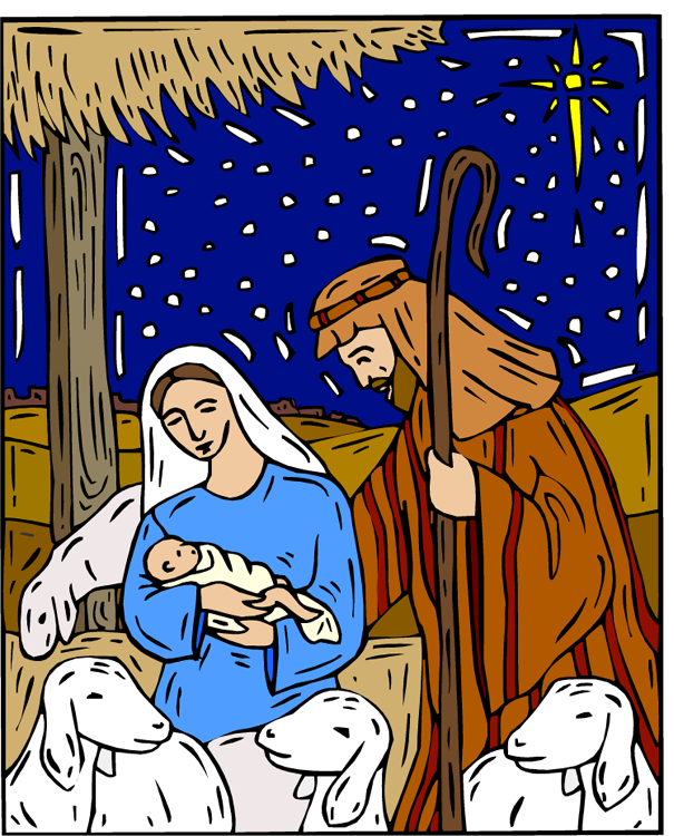 Drawing of and the. Clipart baby jesus mary joseph