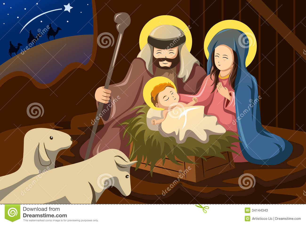 Clipart baby jesus mary joseph. Clipartfest and