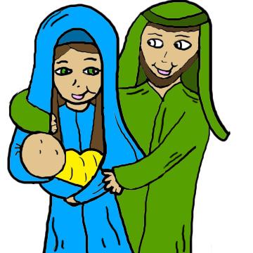 And kid christmas. Clipart baby jesus mary joseph