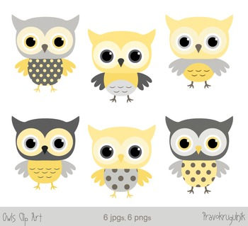 Clipart baby owls jpg free library Yellow owls clip art, Grey owl clipart, Baby owls graphics jpg free library