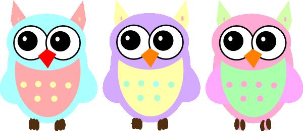 Clipart baby owls svg transparent Pastel Baby Owls Clip Art at Clker.com - vector clip art online ... svg transparent