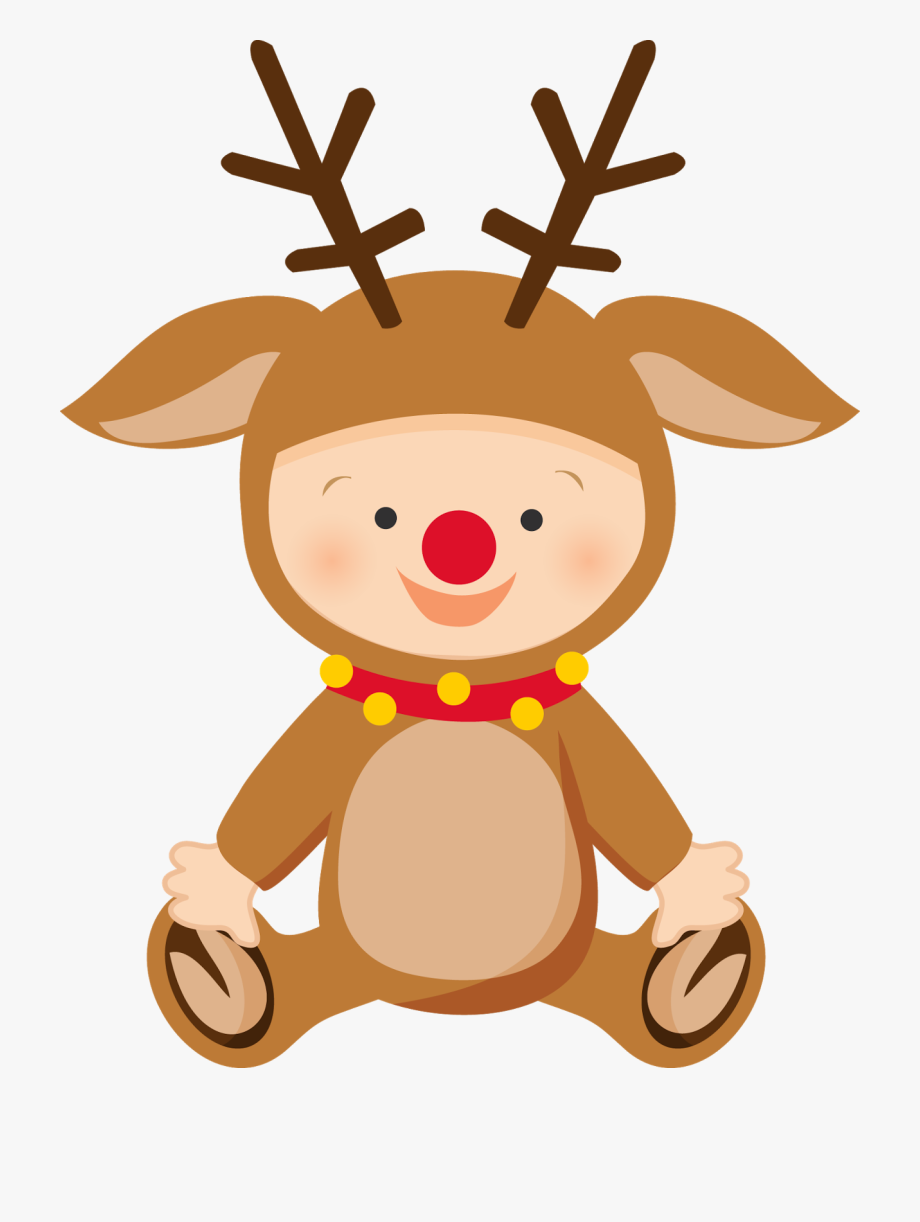 Clipart baby reindeer clip art royalty free download Baby Reindeer Clipart - Babys First Christmas Png #70223 - Free ... clip art royalty free download