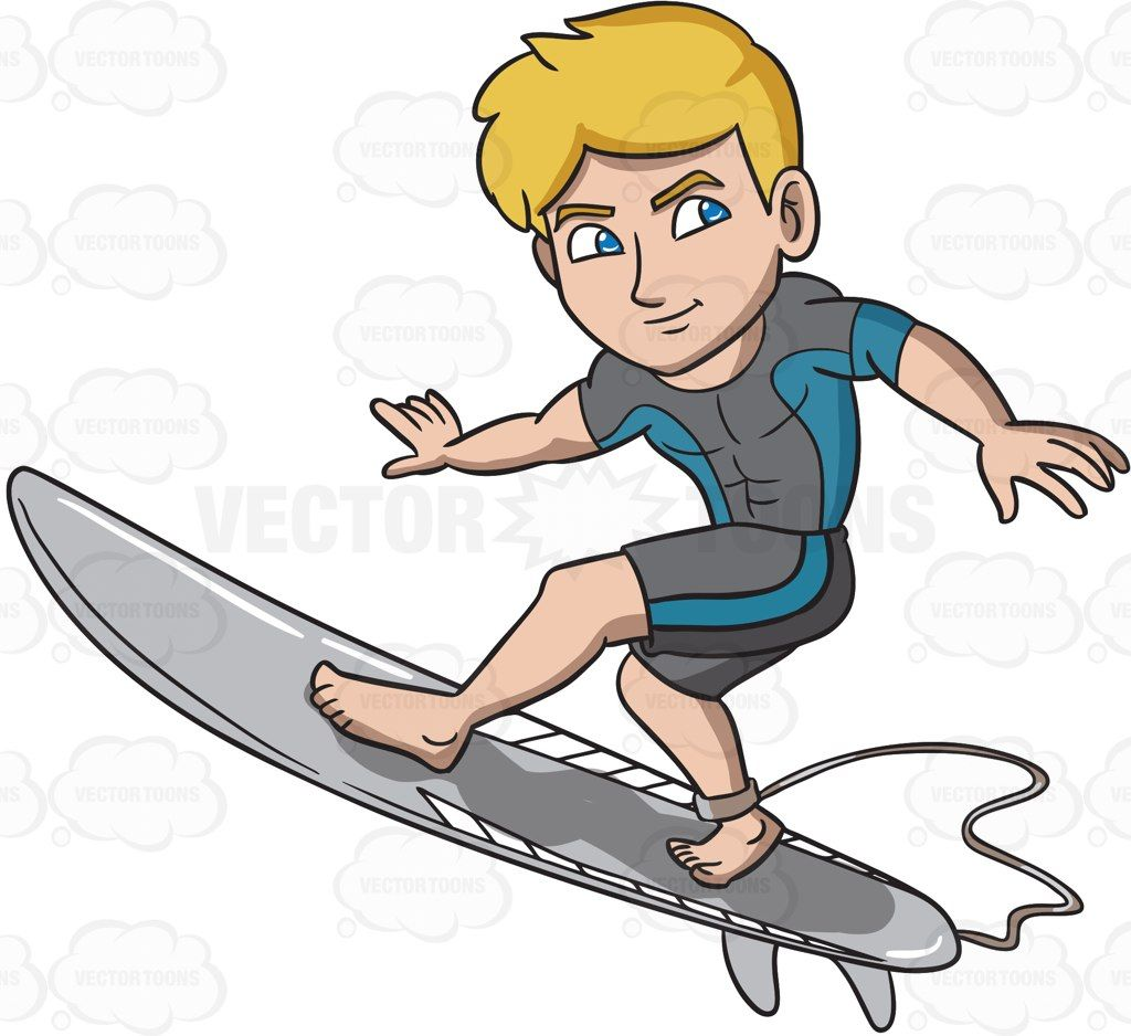 Clipart babys surfing vector A surfer guy enjoying a good wave #cartoon #clipart #vector ... vector