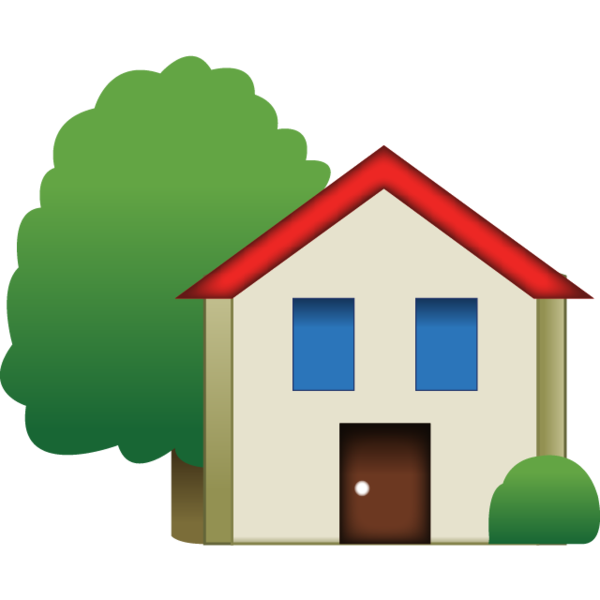 House with yard clipart svg royalty free Download House Emoji With Tree | Emoji Island svg royalty free
